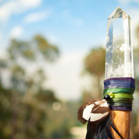 Lyric - wicca witch pagan quartz crystal wand