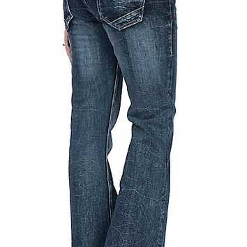 Rock & Roll Cowgirl Women's Light Grey Detailed Open Pocket Trouser Jeans