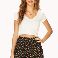 Posh V-Neck Crop Top