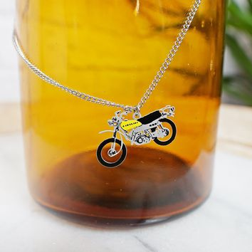 Modern Rebel + Die Cut Motorcycle Necklace