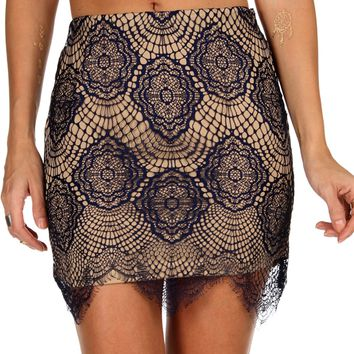 Sale--royal Lola Lace Skirt