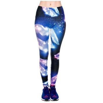 Retro Lips Diamond Leggings