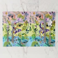 Utopian Psychedelic Surreal Eyes Design Placemat
