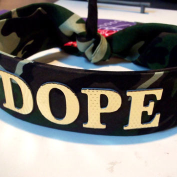 Bandana Headband by FlowerSourDiesel on Etsy