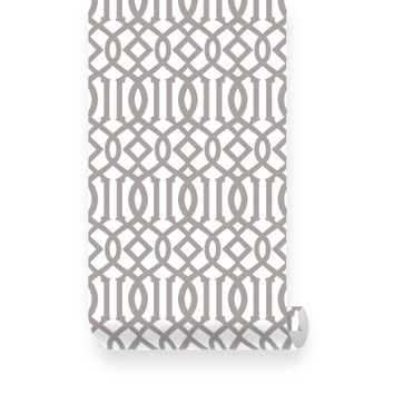 Large Imperial Trellis Peel & Stick Fabric WallPaper