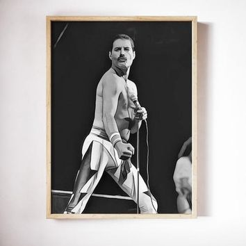Freddie Mercury Poster The Queen Art Print Canvas