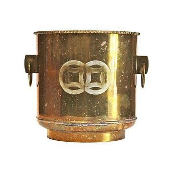 Pre-owned Brass Cachepot Planter