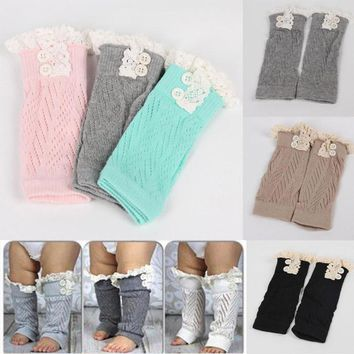 Baby & Toddler Girls Crochet Knitted Leg Warmers