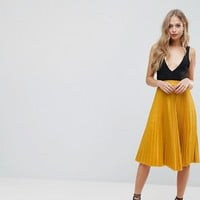 Outrageous Fortune Full Pleated Midi Skirt at asos.com