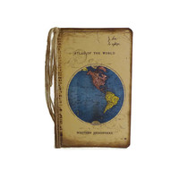 Atlas Notebook, Travel Journal, Destination Wedding, Moleskine, Map Journal, Long Distance Love Gift, Guestbook, Travel Gift