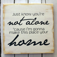 Typography Wood Sign- Home Wall Decor