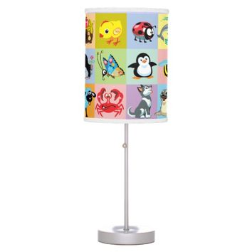 cartoon animals for kids desk lamp