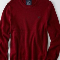 AEO Men's Solid Crew Sweater