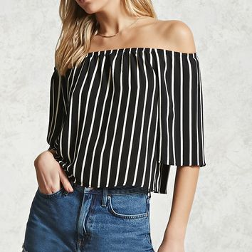 Crepe Off-the-Shoulder Top