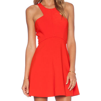 NBD x Naven Twins Believe Me Skater Dress in Orange