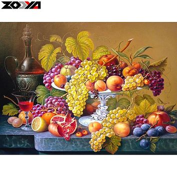 ZOOYA 5D DIY Diamond embroidery Still life of fruit diamond painting Cross Stitch full square Rhinestone mosaic home decor MX