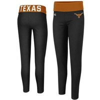 Texas Longhorns Ladies Pivot II Yoga Leggings - Black/Burnt Orange