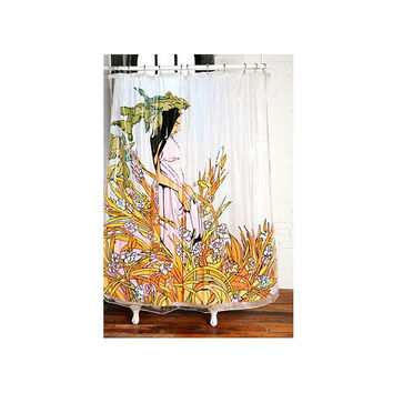 12 Grain - Sam Flores Everglade Shower Curtain (Clear Vinyl)