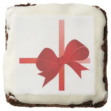 Christmas Bow Brownie