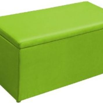 Big Joe 2-in-1 Bench Storage Ottoman, Spicy Lime