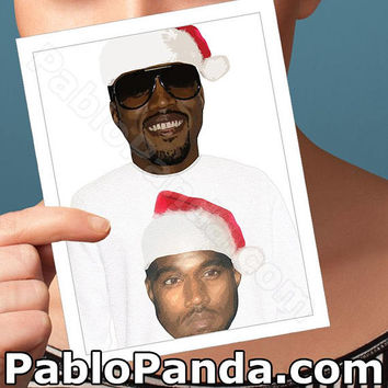 Holiday Cards | Life Of Pablo | I Feel Like Pablo Yeezy Happy Holidays Merry Christmas Card Boyfriend Card Girlfriend Card Boyfriend Gift BF