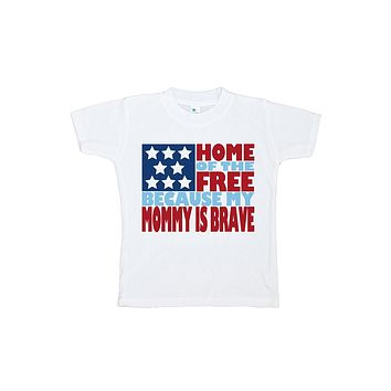 Custom Party Shop Kid's Mommy is Brave 4th of July T-shirt