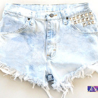 ANY Size ANY Colorway x HighWaisted Studded Frayed by NateHandmade