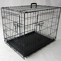 48 inch Double Door Folding Dog Crate By Majestic Pet Products Extra Large
