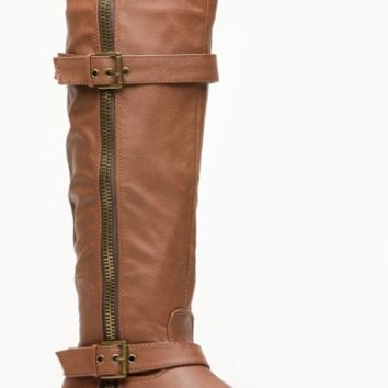 Breckelles Zipper Winter Tan Rider Boots @ Cicihot Boots Catalog:women's winter boots,leather thigh high boots,black platform knee high boots,over the knee boots,Go Go boots,cowgirl boots,gladiator boots,womens dress boots,skirt boots.