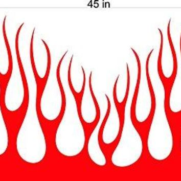 Flames Fire Hood Auto Truck Dune Buggy Side by Side ATV Decals Stickers
