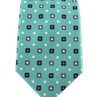 Blossom Row - Spearmint (Cotton Skinny) from TheTieBar.com - Wear Your Good Tie Everyday