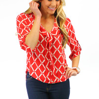 Practical Magic Blouse - Red