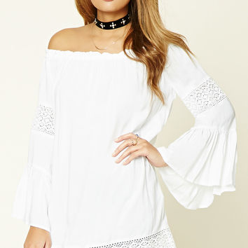 Crochet-Paneled Tunic