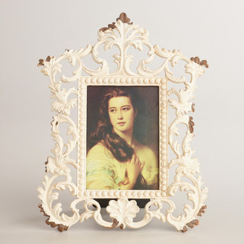 White Scroll Tiana 3-Photo Frame - World Market