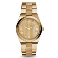 Channing Gold-Tone Horn Acetate Watch | Michael Kors