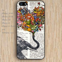 iPhone 5s 6 case elephant up heart flowers dream catcher life colorful phone case iphone case,ipod case,samsung galaxy case available plastic rubber case waterproof B560
