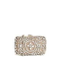 Mango Jewel Embellished Box Clutch Bag With Chain Shoulder Strap