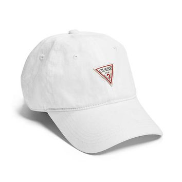 Dark Denim Logo Baseball Hat at Guess