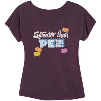 PEZ Women's  Sweeter Than Womens Tank Purple