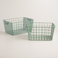 Blue Metal Jamison Storage Baskets