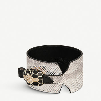 BVLGARI Serpenti Forever leather bracelet