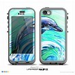 The Pastel Vibrant Blue Dolphin Skin for the iPhone 5c nüüd LifeProof Case