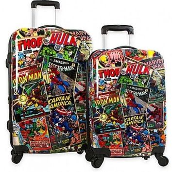 Suitcase Set Spinner Marvel Comics Hardside Trolley Travel Wheels Carry On