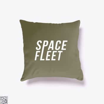 Space Fleet, Black Mirror Throw Pillow Cover