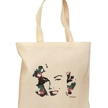 Marilyn Monroe Galaxy Design and Quote Grocery Tote Bag by TooLoud