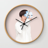 BTS Taehyung | Singularity Wall Clock by marylobs