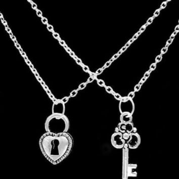 Lock And Key To My Heart Love His And Hers Couples Valentine Gift Necklace Set