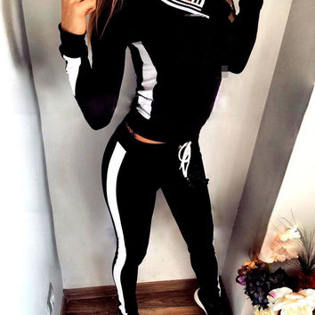 Casual Sports Sweatshirt and Pant Set