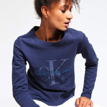 DCCKFC8 Calvin klein Long Sleeve Pullover Sweatshirt Top Sweater Hoodie