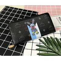 MCM 2018 counters new fashion trendy quilted leather to create a good quality wallet F-AGG-CZDL Black